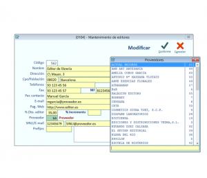 En todo el programa los campos de color VERDE admiten la tecla F1 o F9 que da acceso a las búsquedas